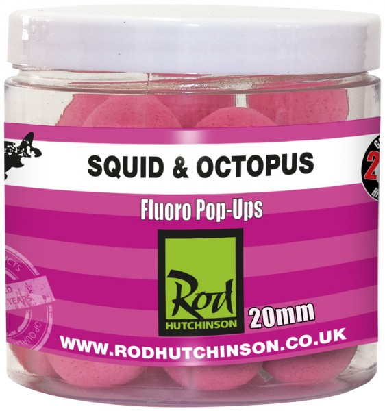 Rod Hutchinson RH Fluoro Pop-Ups Squid Octopus with Amino Blend Swan Mussell 20mm