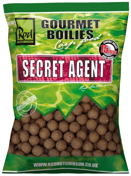 Rod Hutchinson RH boilies Secret Agent With Liver Liquid 15mm 1 kg