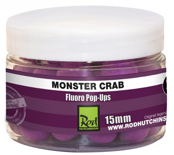 Rod Hutchinson RH Fluoro Pop-Ups Monster Crab with Shellfish Sense Appeal  15mm