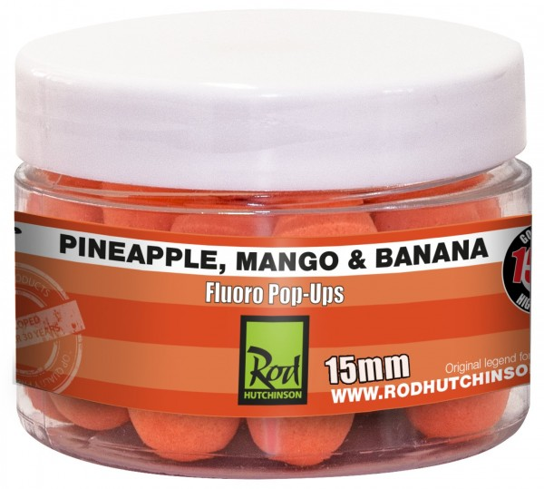 Rod Hutchinson RH Fluoro Pop-Ups Pineapple, Mango & Banana  15mm