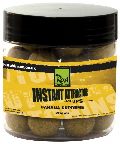 Rod Hutchinson RH Instant Attractor Pop Ups Banana Supreme 20mm