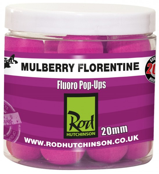 Rod Hutchinson RH Fluoro Pop-Ups Mulberry Florentine with Protaste Plus  20mm