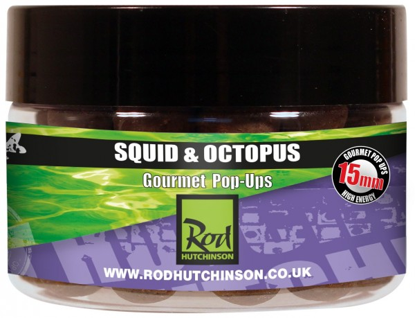 Rod Hutchinson RH Pop-Ups Squid Octopus with Amino Blend Swan Mussell 15mm