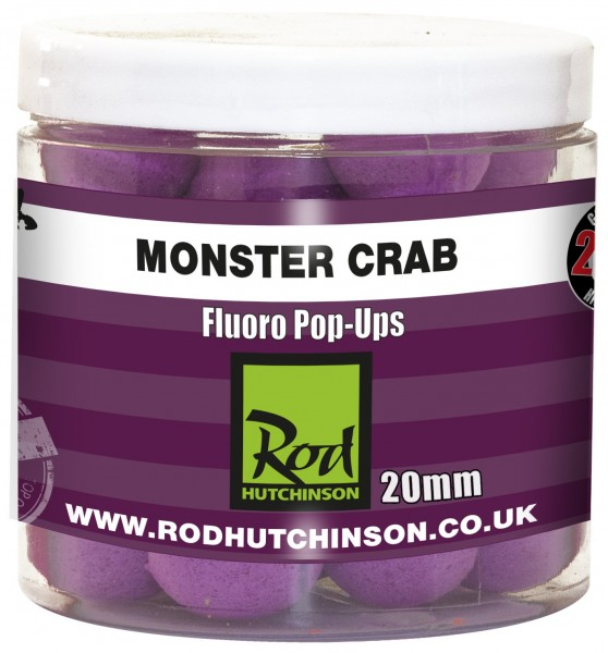 Rod Hutchinson RH Fluoro Pop-Ups Monster Crab with Shellfish Sense Appeal  20mm