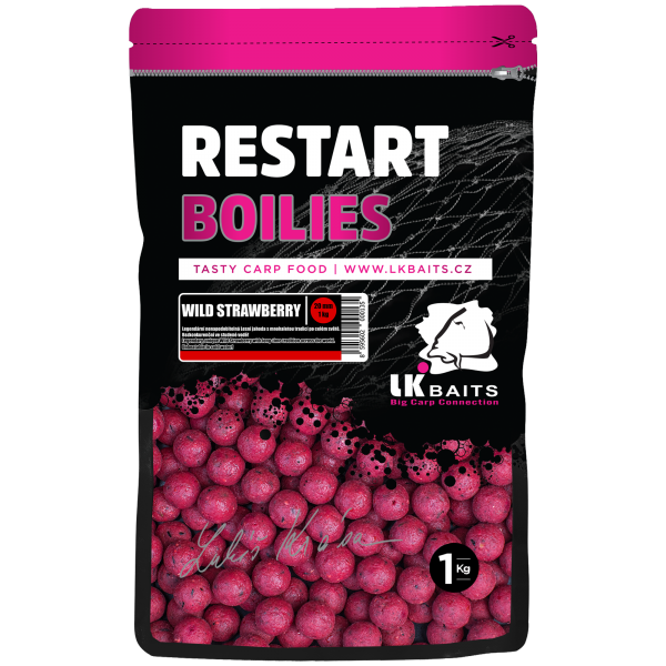LK Baits ReStart Boilies Wild Strawberry  24 mm, 1kg