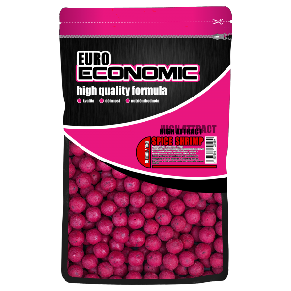 LK Baits Euro Economic Boilies Spice Shrimp 1kg, 20 mm