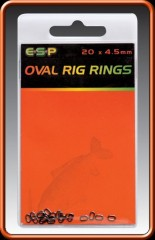 ESP Kroužky Oval Rigs 4,5mm 20ks